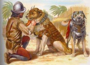 Боевые собаки испанских конкистадоров. Реконструкция