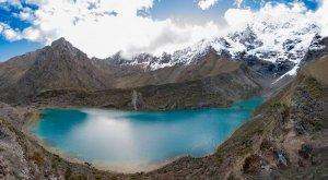 Озеро у ледника Салкантай. Перу