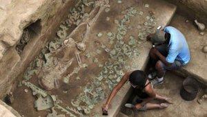 Гробница знатной жрицы культуры Моче (Мочика). Фото - Reuters.