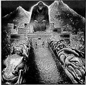 В 1940 г. один журнал опубликовал художественную фантазию обнаруженного в джунглях Теодором Морде древнего города