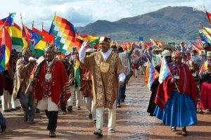 Президент Боливии Эво Моралес прошел в Тиуанако индейский обряд благословения