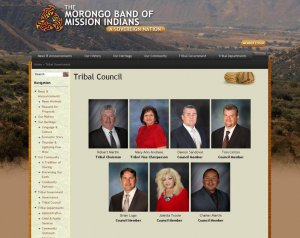 Совет племени Morongo Band of Mission Indians (2014). Изображение - скриншот офиц.сайта / morongonation.org