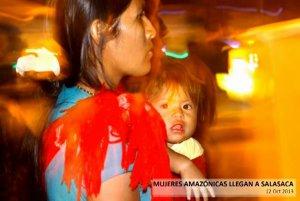 Женщины Амазонии проводят шествие в поддержку заповедника Ясуни
