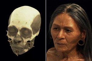 Реконструировано лицо знатной женщины культуры Уари