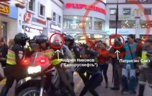 Индеец ударил палкой белоруса Андрея Никонова. Фото - кадр видео