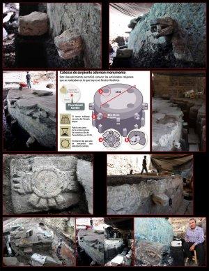 Куаушикалько, большая каменная платформа, что в переводе означает «орлиная чаша»