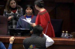 Патрисия Гуалинга в парламенте Эквадора. 22.10.2013