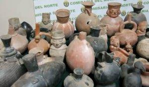 Эксперты в Перу оценят конфискованные археологические артефакты. Фото - кадр видео