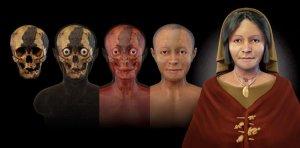 В Перу воссоздано лицо женщины из Асперо, захороненной 4500 лет назад