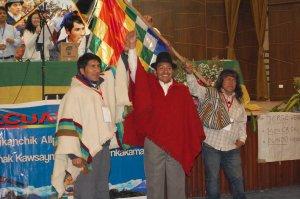В Эквадоре выбрали нового президента Федерации коренных индейских народностей Эквадора (Conaie) - им стал Хорхе Эррера. Фото - eluniverso.com