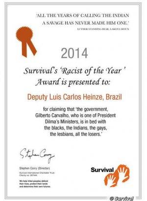 Бразильский конгрессмен Луис Карлос Хайнц стал «Расистом года»