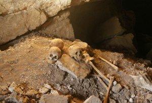 Останки ок. 30 человек были найдены в пещере Ла-Сепультура штата Тамаулипас (Мексика). Фото - INAH