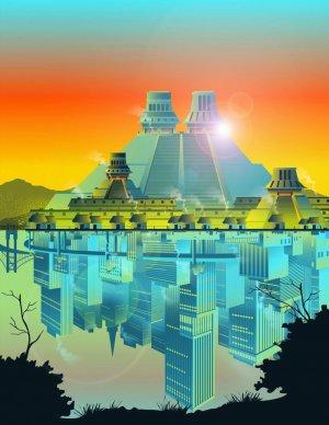 В организационной основе современных городов присутствуют элементы древних поселений долины Мехико. Рис. Габриэль Гарсия для института Санта-Фе
