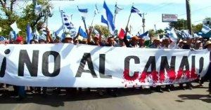 Никарагуанский канал: протесты. Архивный кадр видеоряда Евроньюс (дек.2014)