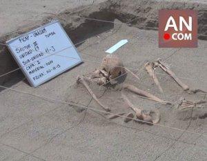 В небольшом перуанском районе Яутан найдено жертвенное захоронение. Фото - ancashnoticias.com