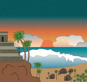 1500 лет назад над полуостровом Юкатан пронеслось цунами. Иллюстрация: Саманта Дэвис, колорадский университет