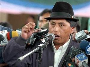 Умберто Чоланго, президент Федерации коренных народов Эквадора (Conaie)