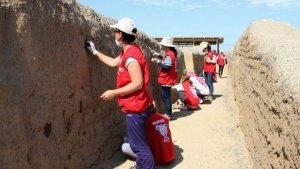 Юные волонтеры ЮНЕСКО завершили свои работы в археологическом комплексе Чан-Чан. Фото - chanchan.gob.pe