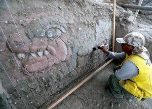 В Лиме в Уака Гарагай нашли полихромные рельефные фризы в стиле чавинской культуры. Фото: ANDINA/Difusión