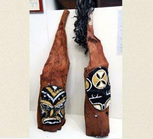 В ИЭА РАН можно увидеть маски индейцев юкуна и предметы индейцев бора и ягуа. Фото: Матусовский А.А.
