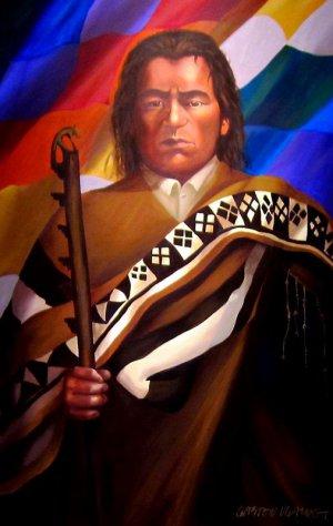 Тупак Катари, настоящее имя Хулиан Апаса Нина (ок.1750 - 15 ноября 1781) - индеец аймара, один из руководителей восстания индейцев (1781 года) против испанцев в Верхнем Перу (совр. Боливия)