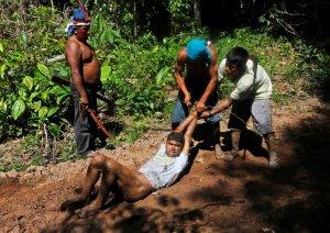 Индейцы каапор решили сами защитить лес Амазонии от нелегальных лесорубов. Фото - Lunae Parracho / Reuters