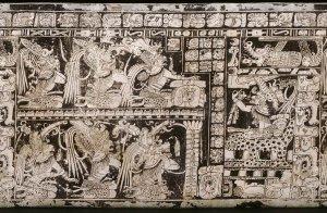 Ваза с семью богами (расписная ваза Kerr 2796).