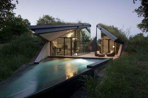 Индейская землянка легла в основу разработки оригинального дома. Фото - Bercy Chen Studio / bcarc.com