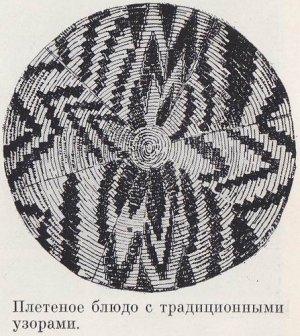 Плетеное блюдо с традиционными узорами