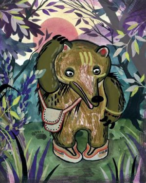 Волшебные сказки индейцев». Отчего медведь ходит вперевалку. Художник - Нина Костерева