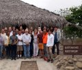 Российские и эквадорские археологи на территории памятника Реаль-Альто. Фото: ДВФУ