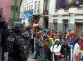Детская акция протеста в Боливии переросла в столкновения с полицией. Фото - кадр видео NTDtv