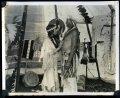 На съемках фильма команчей и кайова 1920 года «Дочь Рассвета»