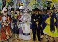 Катрина на фреске Диего Риверы «Мечта о воскресенье в парке Аламеда» (деталь)