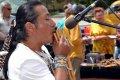 Трио из этнической группы «Ecuador Indians» открыло амурскую выставку. Фото - «Порт Амур» — Дальневосточное информационное агентство