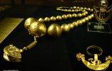 8. Ожерелье. Место обнаружения - Фриас I. Золото. Длина 66,0 см. Ранний промежуточный период (200 до н.э.-700 н.э.)