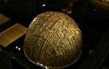 36. Шлем. Культура Уари I. Золото, растительные волокна. 28,5 х 20,0 см. Средний горизонт (700-900 н.э.)