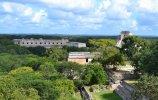 Вид на город с тридцатиметровой пирамиды 8-го века. Фото: А. Ткачев