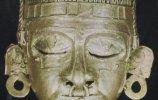 Золотая пряжка в виде маски божества Шипе-Тотека