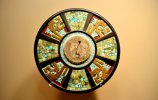 Деревянный диск с мозаикой из бирюзы. Чичен-Ица, Юкатан. Фото - INAH