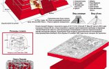 """Инфографика """"Храм Надписей, саркофаг и плита К'инич-Ханааб'-Пакаля I (Пакаль Великий)"""""""