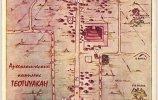 Центр Теотиуакана из туристической брошюры прошлого века