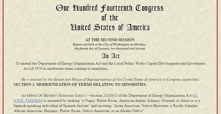 В госдокументации США исключают употребление терминов американский индеец и эскимос среди прочих