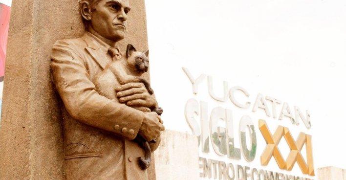 В Мериде открыли второй в Мексике памятник Ю.В. Кнорозову. Фото: Надежда Емельянова / facebook.com/Nadira45