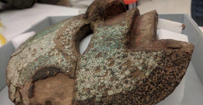 Мозаичная маска в миштекском стиле. Коллекция Смитсоновского института. NMAI Catalog #10/8712. Фото: Alyson M. Thibodeau
